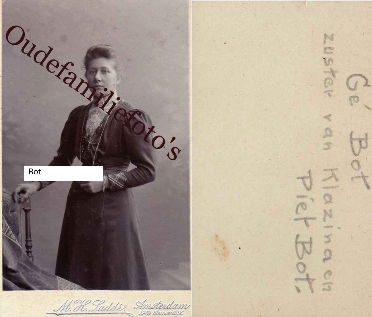 Bot, Geesje Geb. 28-6-1880 Zwartsluis. Ovl. 3-4-1944 Rotterdam € 2,00