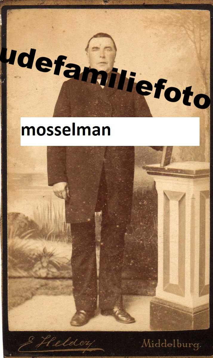 Mosselman, Jan Geb 24-11-1823 Kouwerkerk. Gehuwd Cornelia van der Meule. € 3,50