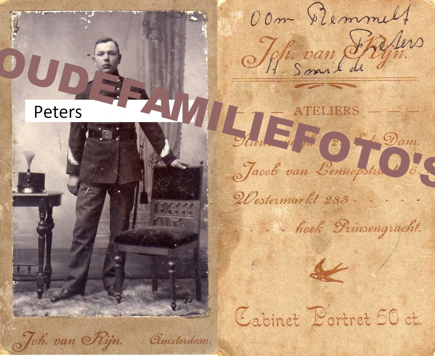 99% Peters, Remmelt Wilhelm. geb 1869 Staphorst.