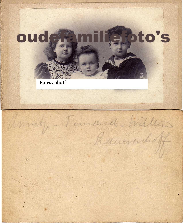 Rauwenhoff, Annetje, Fernand, Willem. geen info. € 3,00