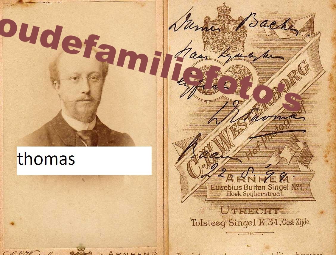 Thomas, Andrias Jacobus Arnoldus. Geboren op 03-10-1856 Ede, Arts € 3.00