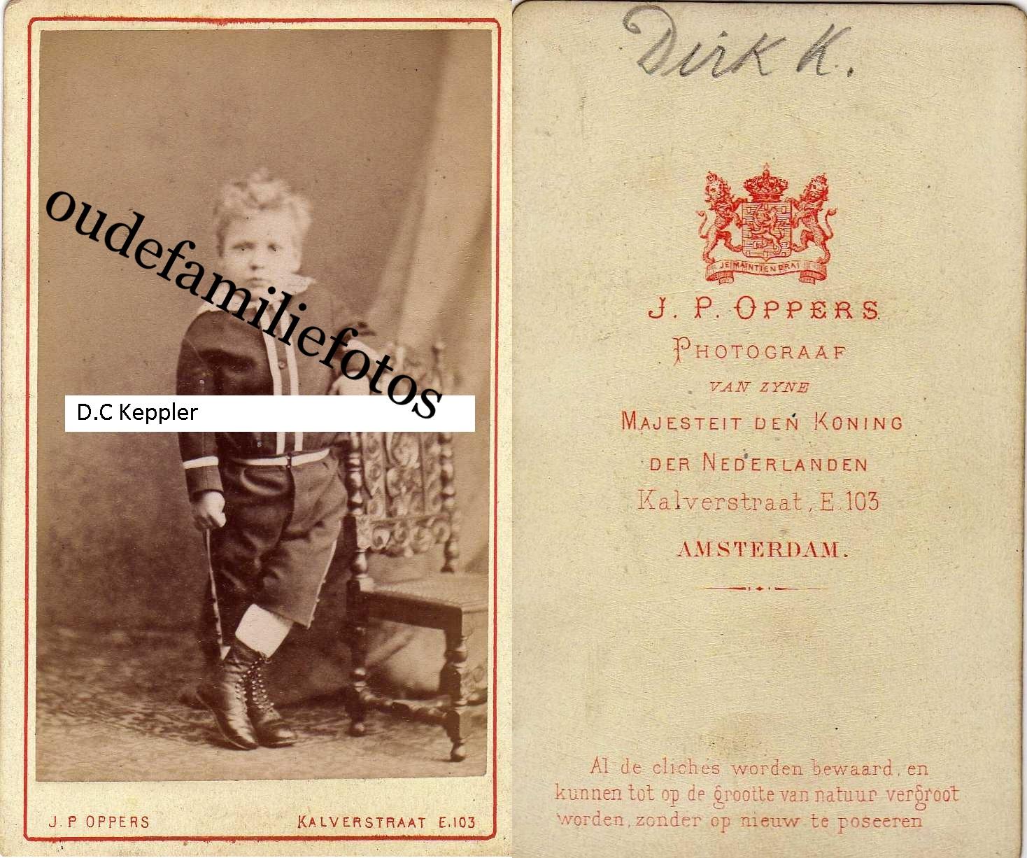 Keppler, Dirk Cornelis geb. 17-12-1873? A'dam ovl. 4-10-1881 A'dam Moeder Maria Christina Lugt € 2,00