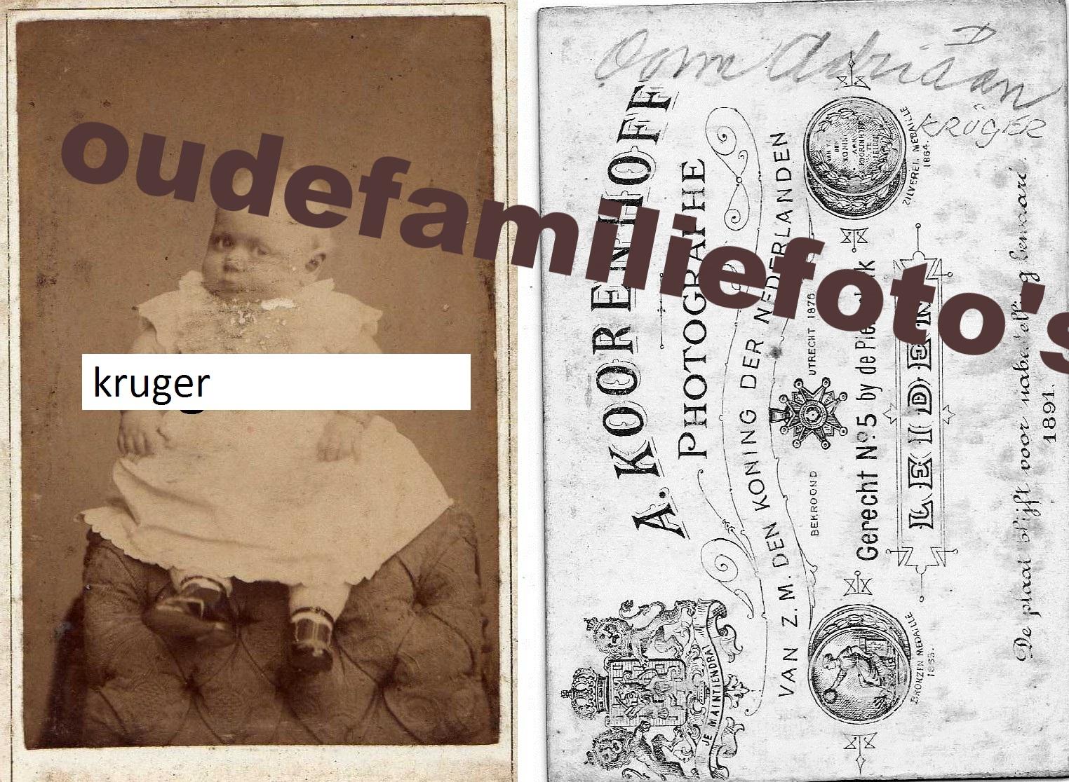 Kruger, Adriaan Willem Johan. geb. 8-5-1891 Leiden