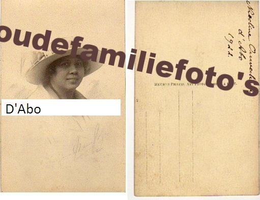 D'Abo, Nicoline. 23-12-1908 getrouwd met Adolphus Mattheus Johannes Ouwerkerk te Djokjakarta € 2,00
