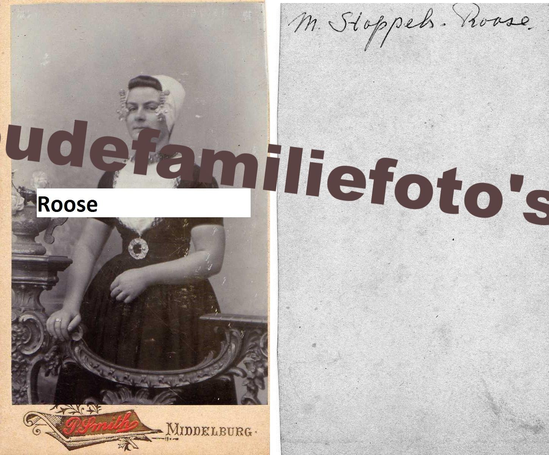 Roose, Maria Pieternella. Geb: 8-4-1882 Koudekerk. gehuwd 2-10-1908 Abraham Jacobus Stoppels. € 3,00