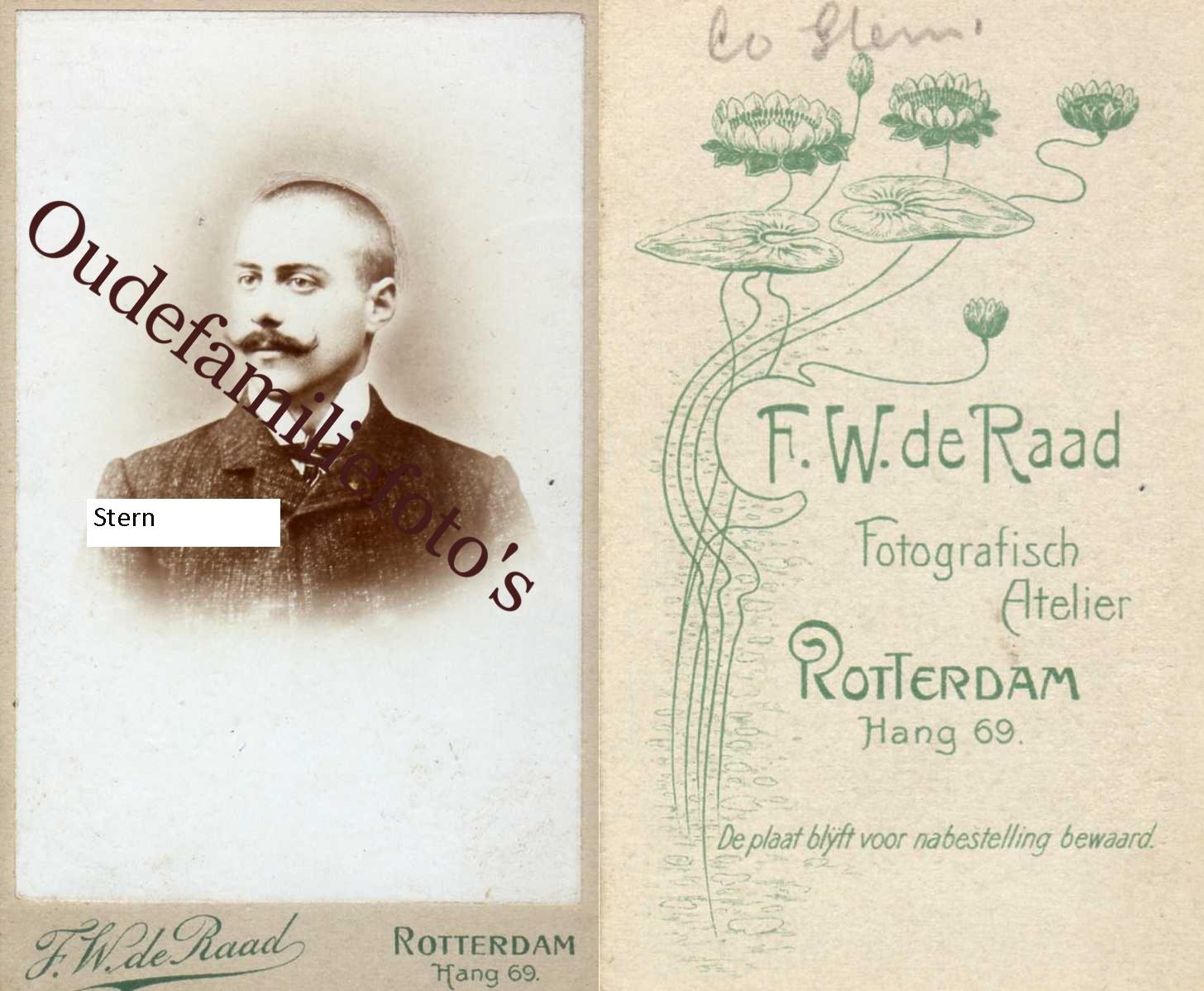 Stern, Coenelis Jacobus Lodewijk. Geb. 4-7-1879 Heille. Moeder Hennequin € 3,00