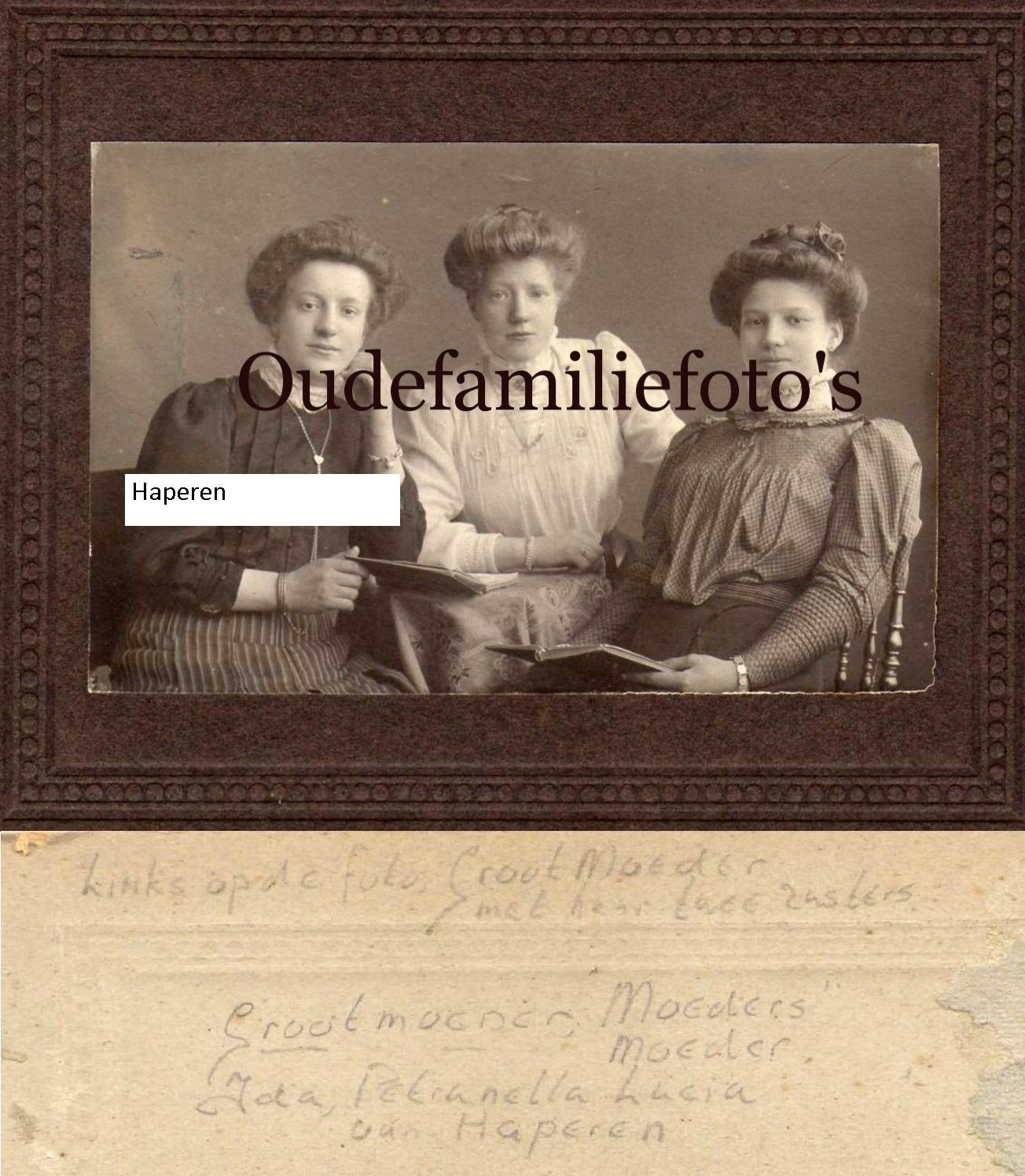 Haperen van, Ida Petronella Lucia. Geb. 11-2-1889 Amsterdam. Getrouwd 10-1-1912 met Judocus Lambertus Duijker. € 3.00