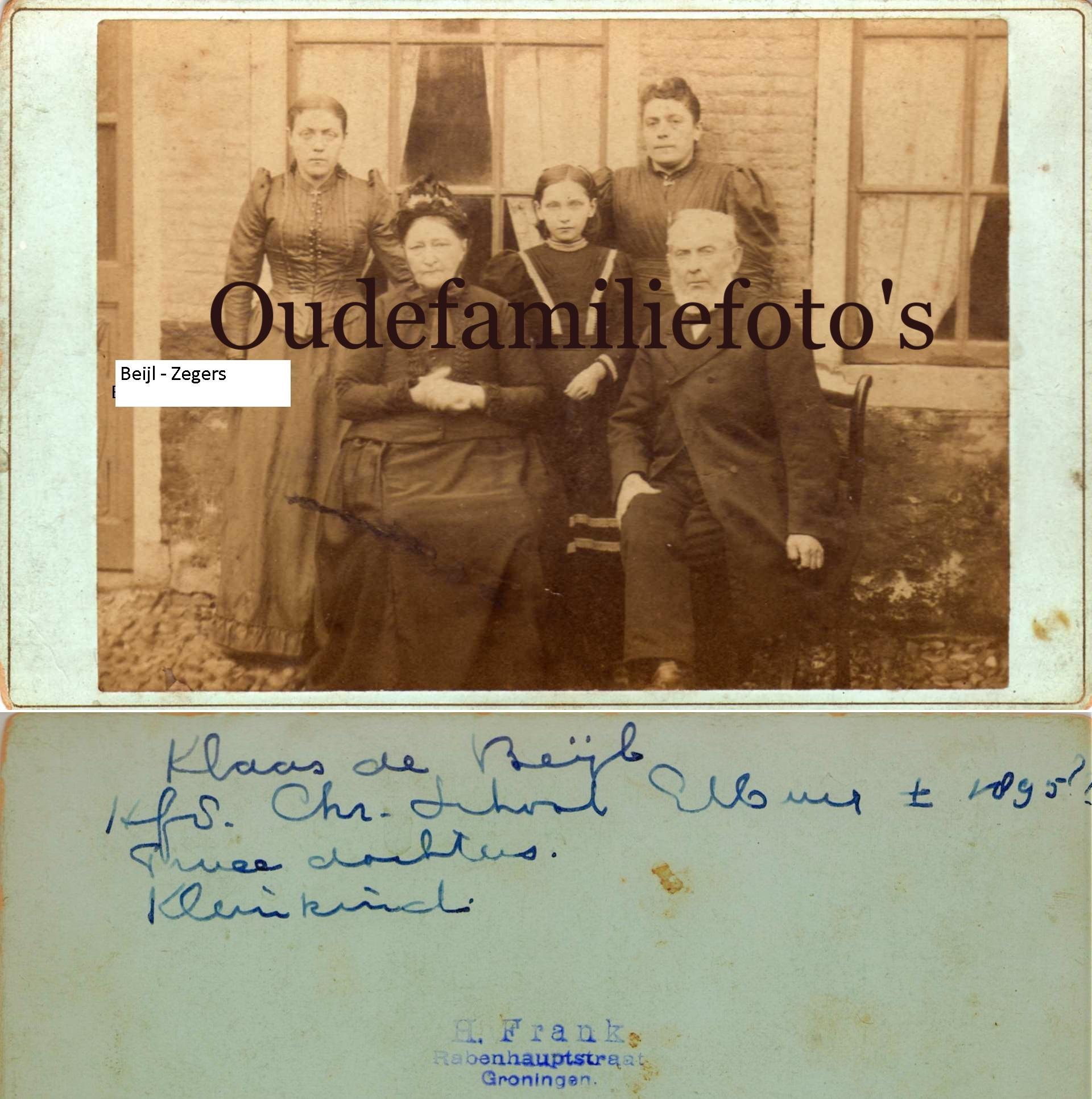 Zegers, Dirkje. Geb. 6-9-1821 Hardewijk. Ovl. 14-5-1903 Elburg. getrouwd 10-4-1846 met Klaas de Beijl. € 3,50