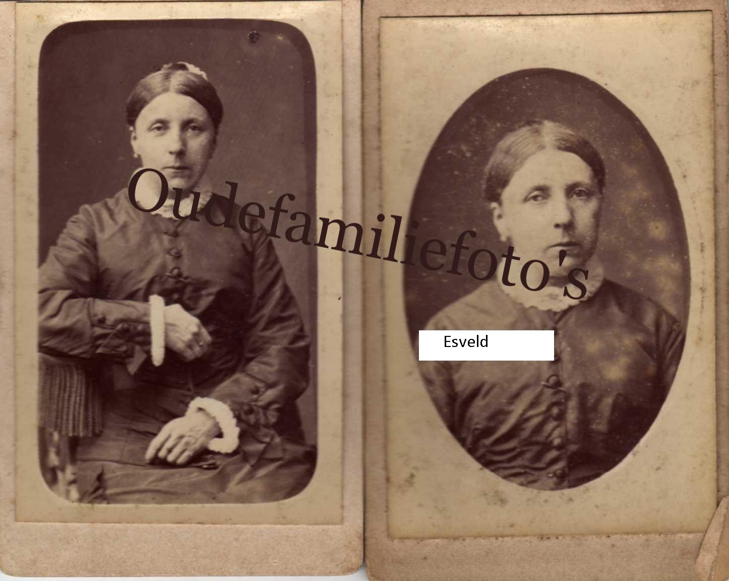 Esveld van, Johanna Geb. 15-5-1837 Amersfoort Ovl. 7-2-1917  € 4,00