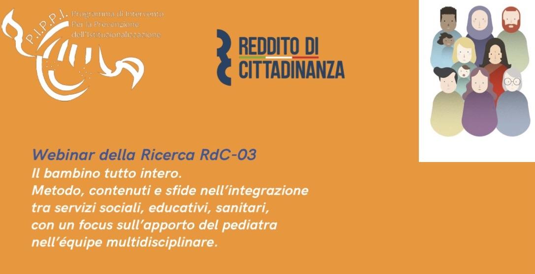 Il bambino tutto intero: webinar della ricerca RdC 0-3, il 24 maggio 2021