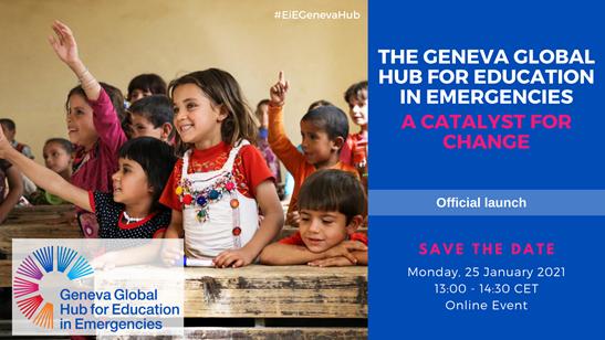 Geneva Global Hub for Education in Emergencies: 25 gennaio 2021