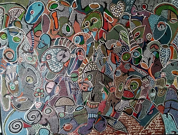 The big band 2016 - 116x89cm