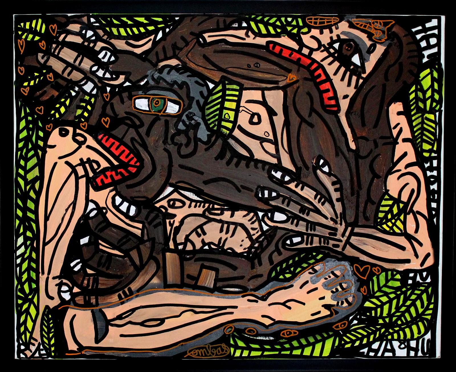 Acrylique sur toile - 81 x 65 cm