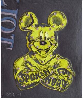 Mickey - Aquagravure papier fait main