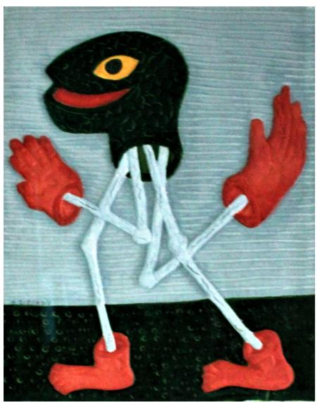 Salamandre (carborundum sur papier main n°24/50) - 39x49cm