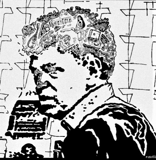 Portrait de Robert Combas - 80x80cm - 2 250€