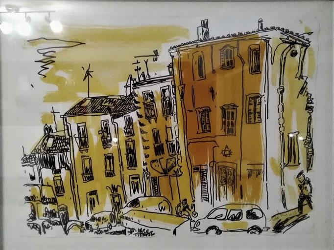 Le quartier haut 2015 (lavis sur papier) - 75x55.5cm - 1 800€