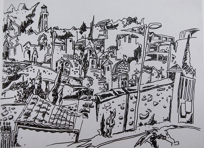 Le cimetière marin 2015 - 60.5x52cm - 2 000€