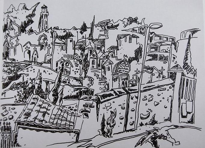 Le cimetière marin 2015 - 60.5x52cm (Oeuvre en dépôt)
