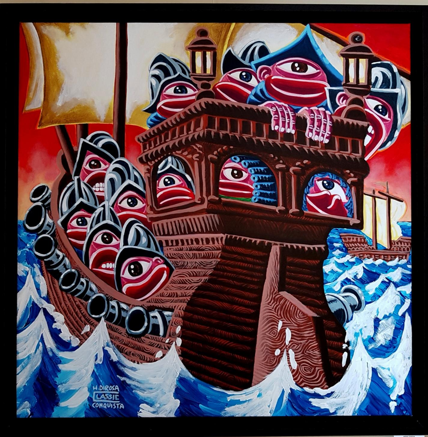 Conquista - Acrylique sur toile - 109x109cm