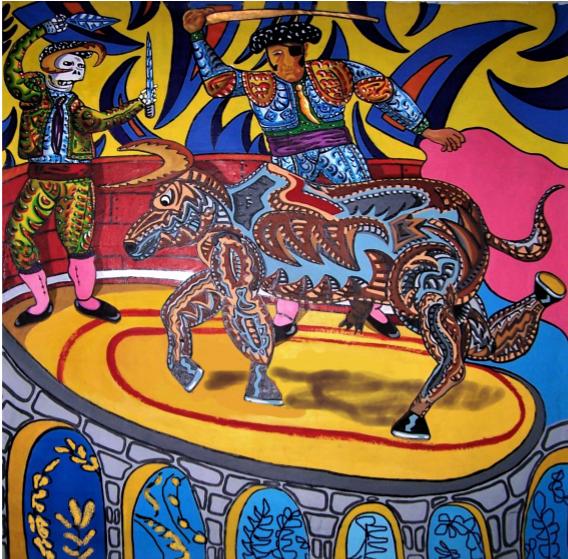 Juan Rosé Padillo (technique mixte sur bâche) - 190x190cm - 8 000€