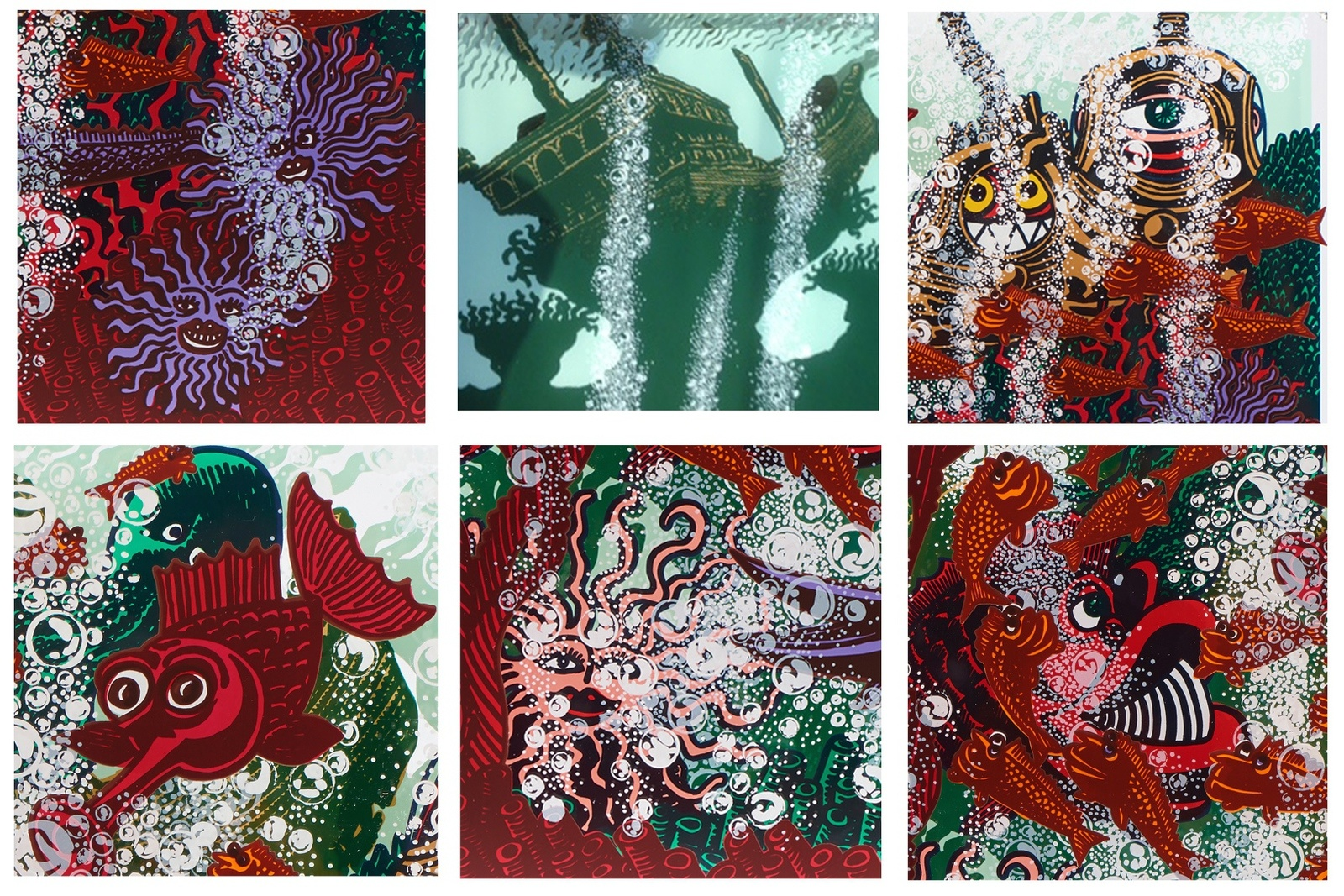 L'aquarium - 2015 - Acrylique sur plexiglas - 60x80x15cm