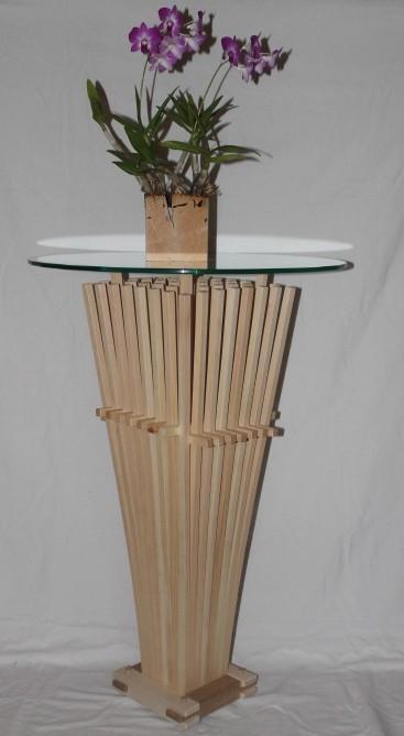 Zirbenholz Klimabesen mit Orchidee
