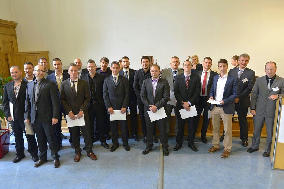 Abschlussklasse der Druck- und Medientechniker 2014