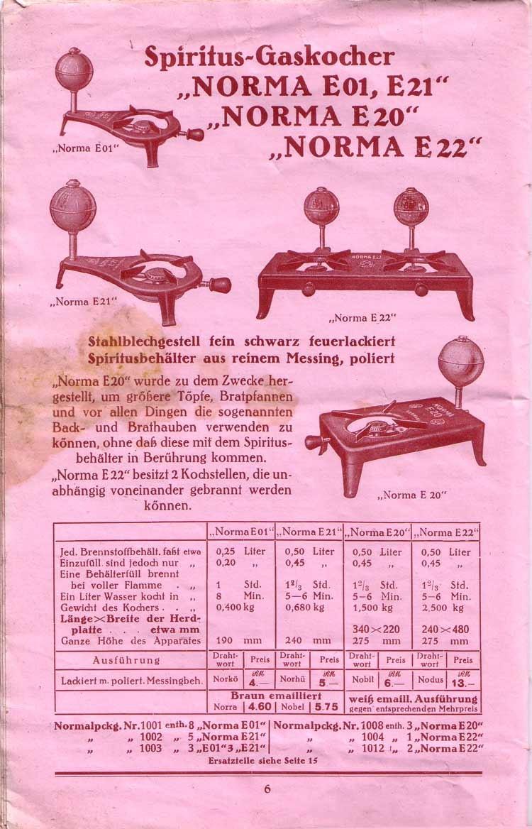 Katalog aus dem Jahr 1934