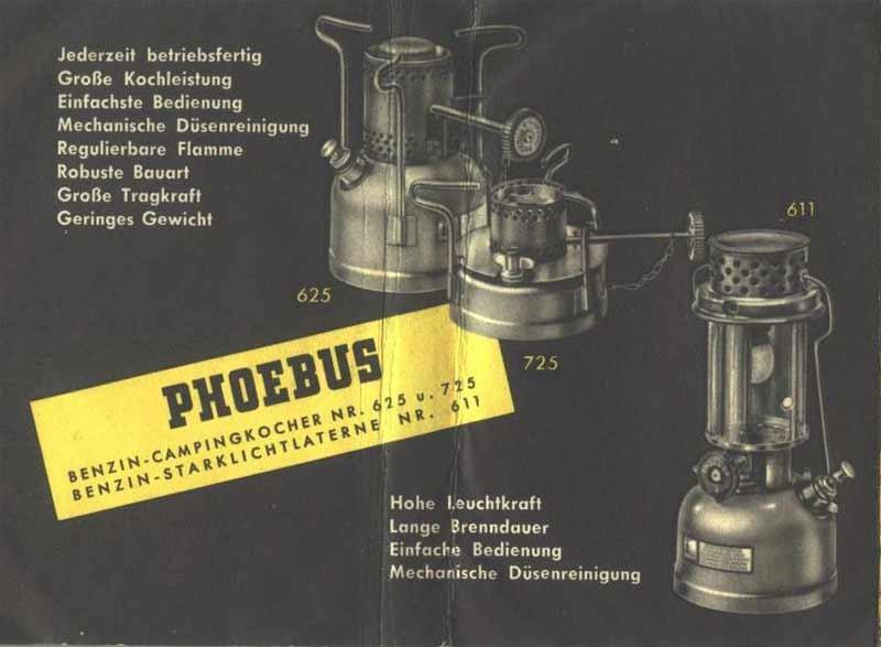 Werbeblatt 1954