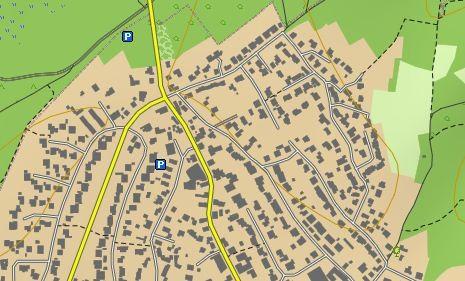 Digitale Karte für GPS-Gerät