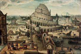 Tour de Babel - peinture du XVIème siècle d'Abel Grimmer- collection privée
