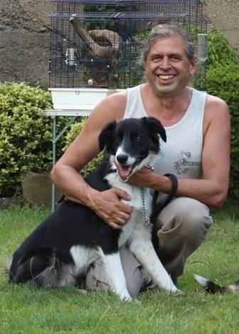 Patrick Adolf avec la chienne Lilou
