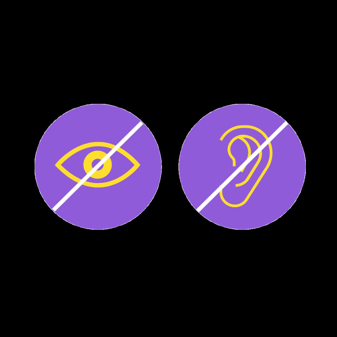 icones surdité et malvoyance