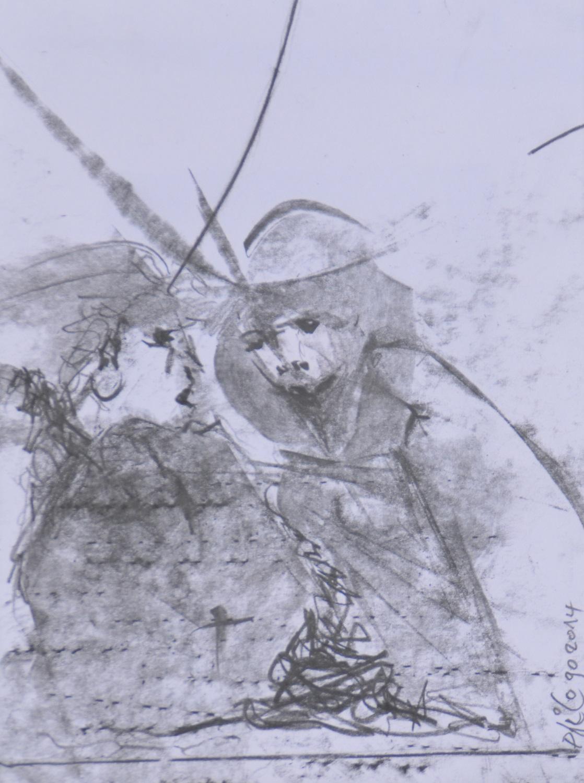 Jeux d'acteurs 1-2014 dessin 12x15 cm