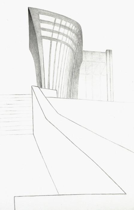 Торгово-деловой центр «Китеж». 2014. Бумага, карандаш. 29 х 18