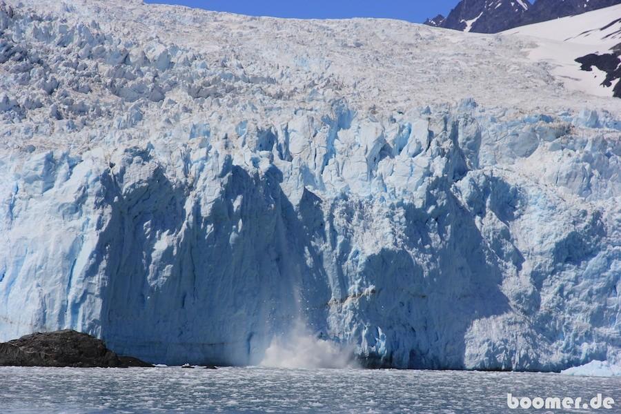 Eisabbrüche am Gletscher