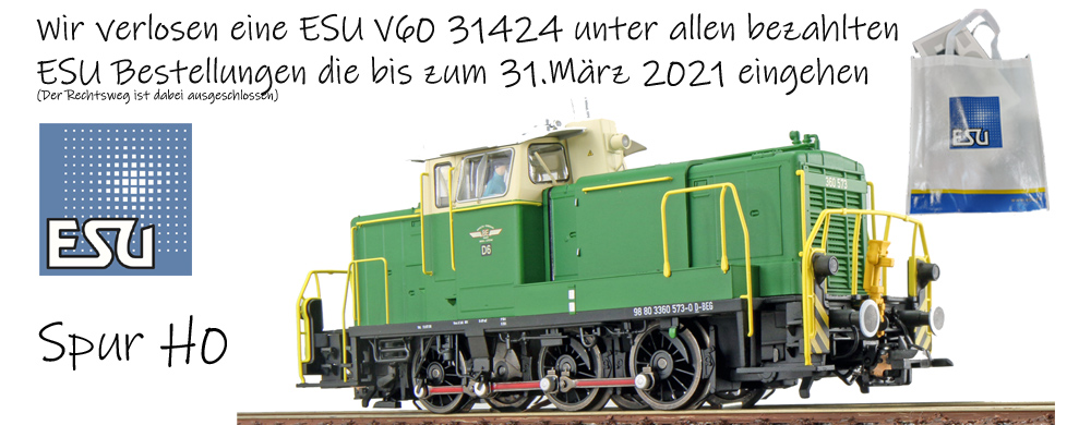 Verlosung einer ESU V60 der Brohtalbahn 31424