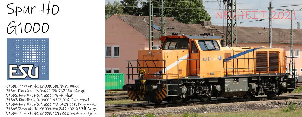 ESU überrascht mit neuer moderner Diesellok von Vossloh, der G1000BB