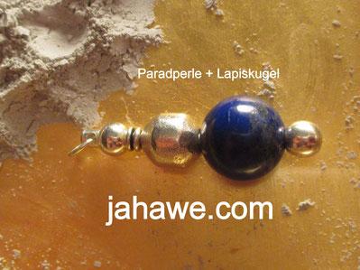 Paradperle mit Lapis Lazuli