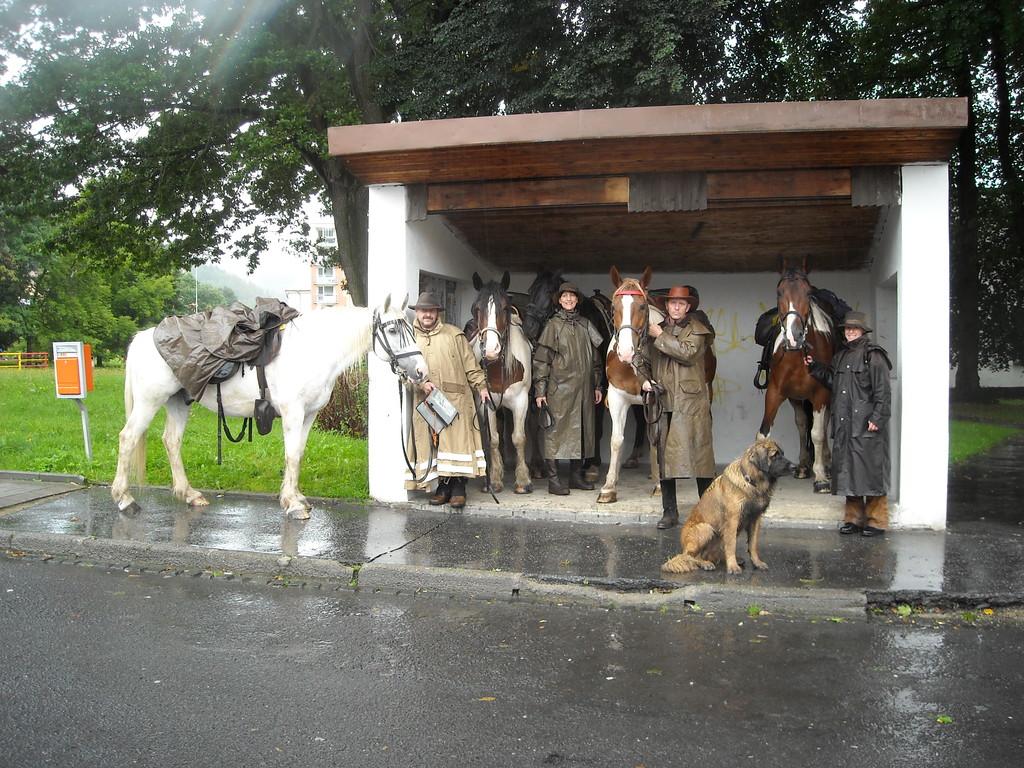 tschechische Haltestelle wird umfunktioniert