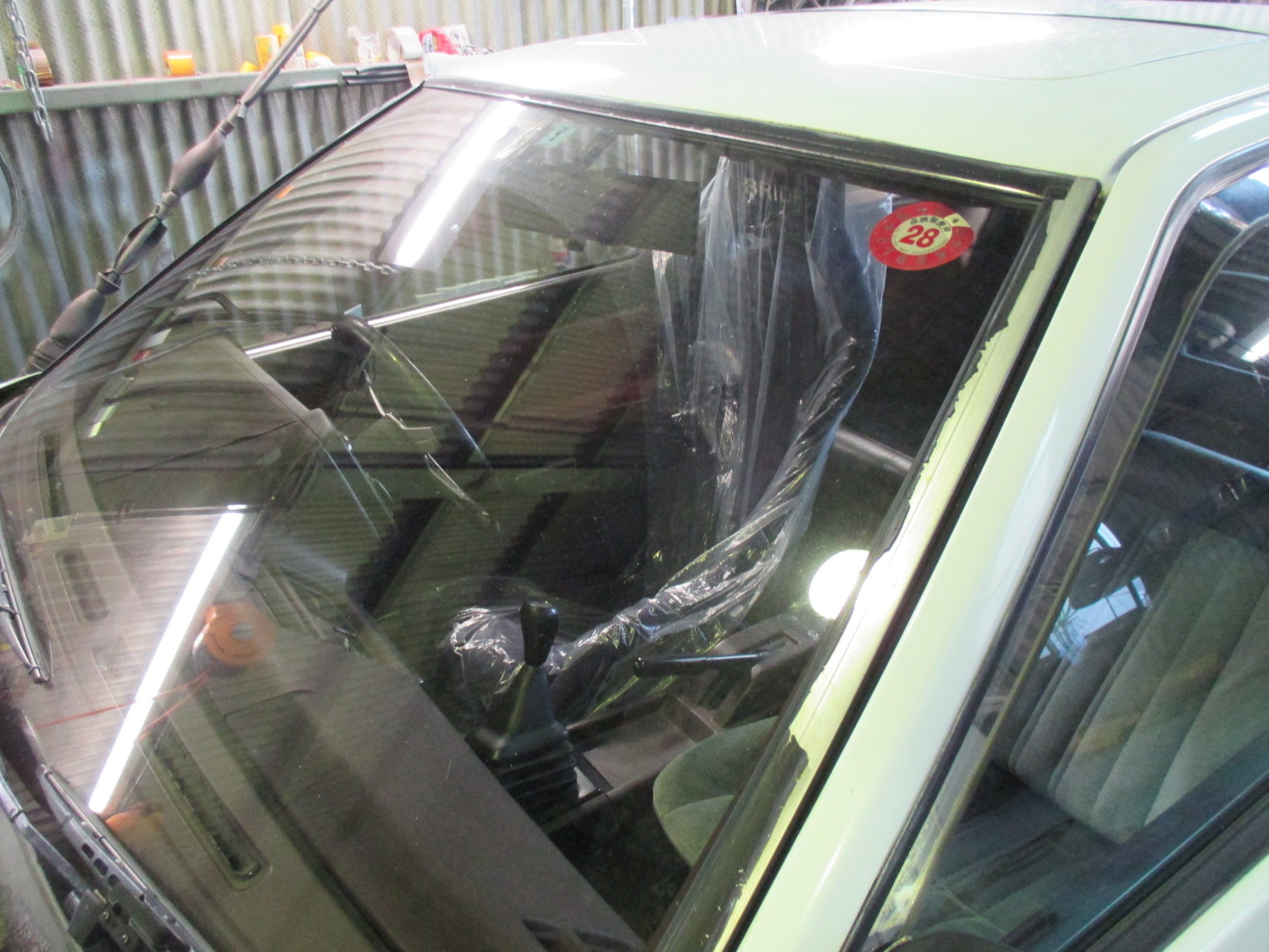 AE86トレノ フロントウィンドゥのモール