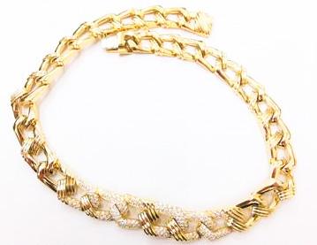 K18 ダイヤ ネックレス