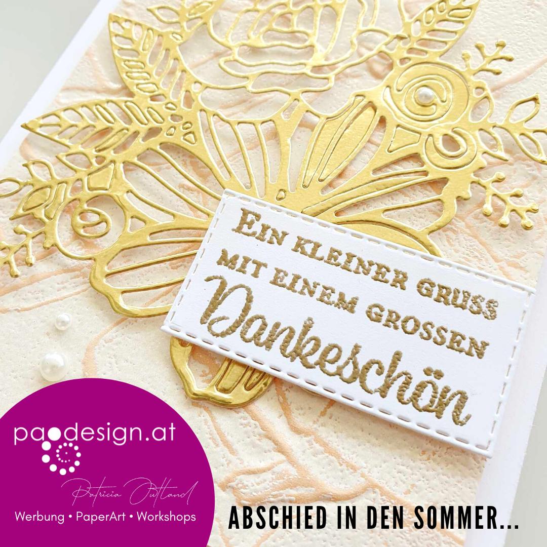 """#StampinUp Ratsch & Create 27/2021  """"Karte zum Abschied in den Sommer"""""""
