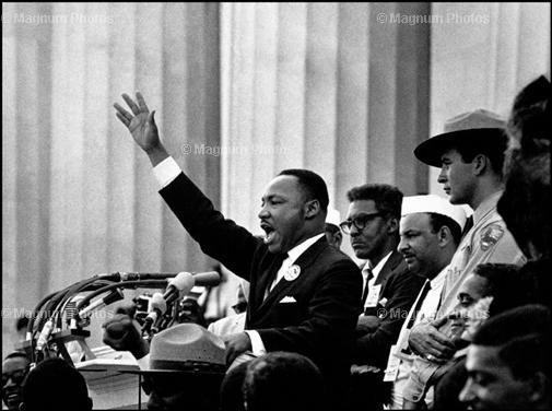 """I have a dream"": Martin Luther King 1963 in Washington."