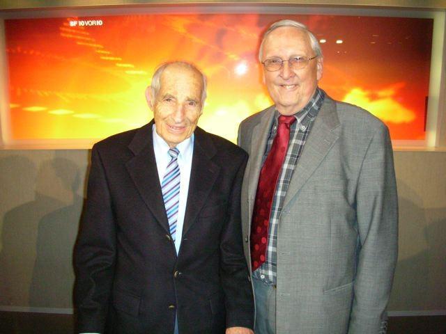 ZVM-Ehrenmitglied Alfred Waldis zusammen mit Seppi Ritler.