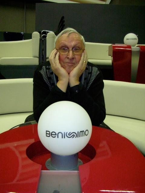 Immer für einen Scherz gut: Josef Ritler im Benissimo-Studio.
