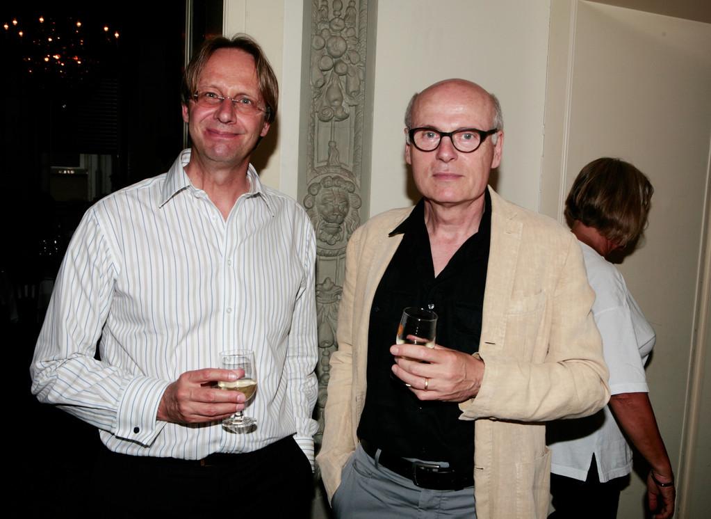 Der Zuger Thomas Wyss im Gespräch mit dem Zürcher Daniel Suter.