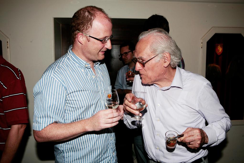Angeregte Diskussion: Dominik Buholzer und Franz Trachsel.