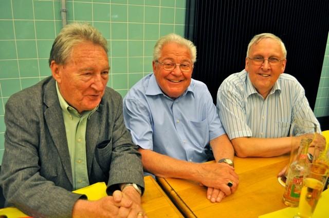 Roger Manzardo (links), Hermann Schlapp und Josef Ritler (rechts)